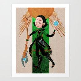 Loki Tarot Art Print