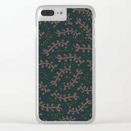 Twiggy (Dark Green) Clear iPhone Case
