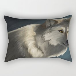 Grey Wolf in the Morning Rectangular Pillow