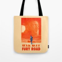 mad max Tote Bags featuring Mad Max: Fury Road by days & hours