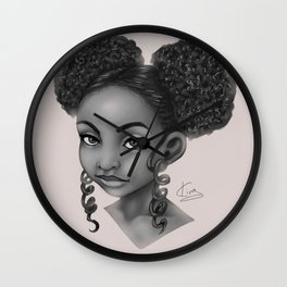 Puffs and Curls Wall Clock