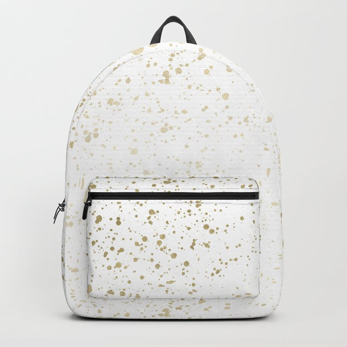Los Angeles Nights Gold Paint Backpack