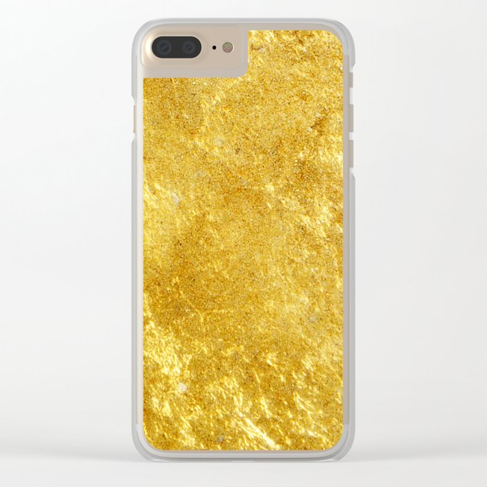 Golden Texture #lifestyle #society6 Clear iPhone Case