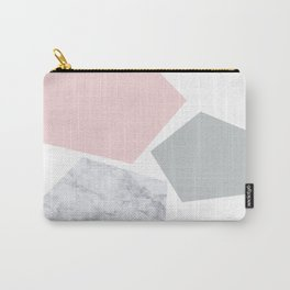 Blush, gray & marble geo Carry-All Pouch