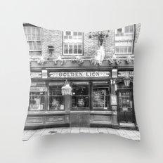 The Golden Lion Pub York Throw Pillow