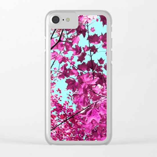 Autumn Pink Clear iPhone Case