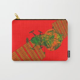 Explorer Schematic Warped Green on Red Carry-All Pouch