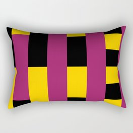 A lot of rectangles, all put in a way that it seems it is a 3d thing, but it's 2d, purple carpet. Rectangular Pillow