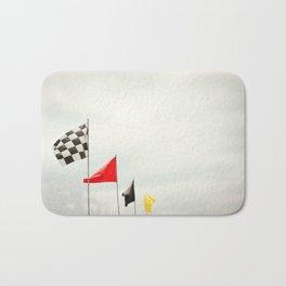 Race Day Checkered Flags Bath Mat