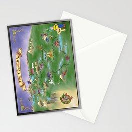 Tina & Carros de Foc poster Stationery Cards