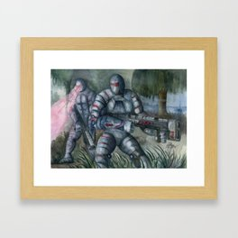 Swamp Hunt Framed Art Print