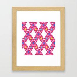 Chiapas Pattern - Pink Framed Art Print