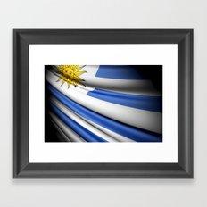 Flag of Uruguay Framed Art Print