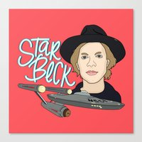 cassia beck Canvas Prints featuring Star Beck by Chelsea Herrick