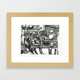Marc Train to Baltimore  Framed Art Print