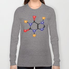 Caffeine, the molecule Long Sleeve T-shirt