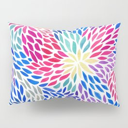 Flowing Leaves Purple & Blue Pattern Pillow Sham