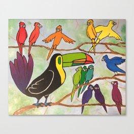 Rainbow Birds Canvas Print