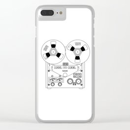 Reel To Reel Line Drawing Clear iPhone Case