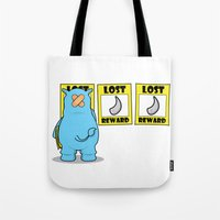 rhino Tote Bags featuring rhino by chee weng