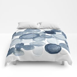 Pebbles Watercolor Abstract Comforters