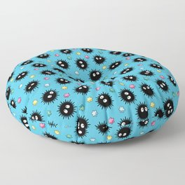 Soot Sprites (Light Blue) Floor Pillow