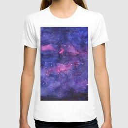 Galaxy Pattern Watercolor T-shirt