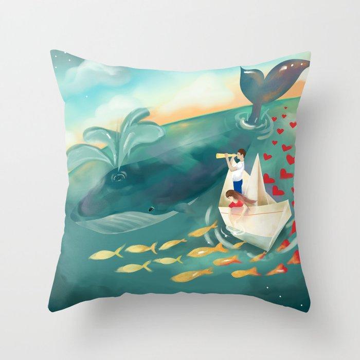 Adventures at Sea Throw Pillow