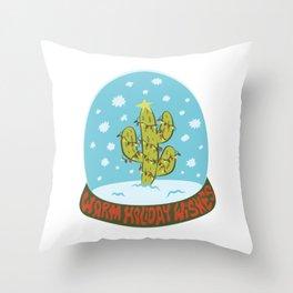 Cactus Snow Globe Throw Pillow