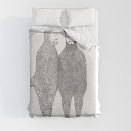 Two Bears Get Married Duvet Cover