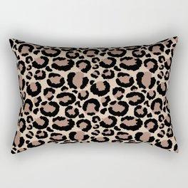 Tan Leopard Print Rectangular Pillow