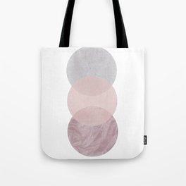 Gray and Pink Circles Tote Bag