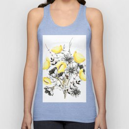 Poppies And Chicory Wildflower Bouquet Unisex Tank Top