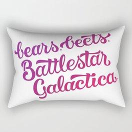 Bears. Beets. Battlestar Galactica. Rectangular Pillow