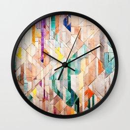 Pastel Tile Mosiac 1 Wall Clock