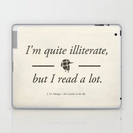 Salinger's The Catcher in the Rye - Literary quote art, bookish gift, modern home decor Laptop & iPad Skin