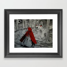 A meeting in the woods Framed Art Print