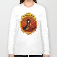 bookworm Long Sleeve T-shirts featuring The bookworm lady by CottonValent