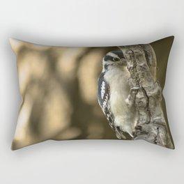 Downy Woodpecker Rectangular Pillow
