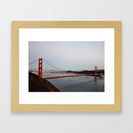 GOLDEN GATE BRIDGE - TWILIGHT - CALIFORNIA Framed Art Print