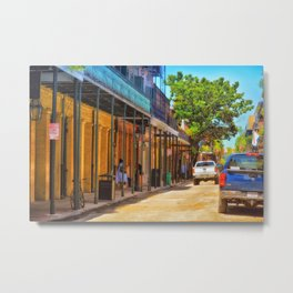Sun Soaked New Orleans Metal Print