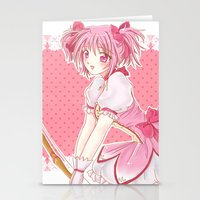 madoka magica Stationery Cards featuring Madoka  by Phadme