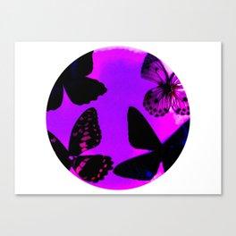 Butterflies through the scope... Canvas Print
