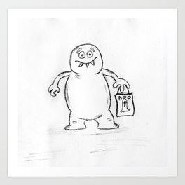 Blob Monster Art Print