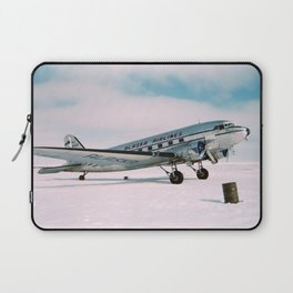 Vintage aviation photograph Alaska Airlines airplane air plane classic pilot flight travel photo Laptop Sleeve