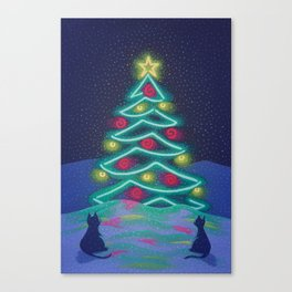 Bright December Night Canvas Print