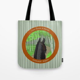 view from a horse SUMMER ASPEN Tote Bag