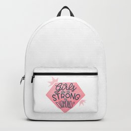 Girls are as strong as diamonds Backpack