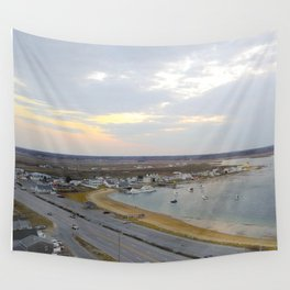 Harbor Sunset Wall Tapestry