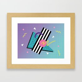 Memphis pattern 58 - 80s / 90s Retro Framed Art Print